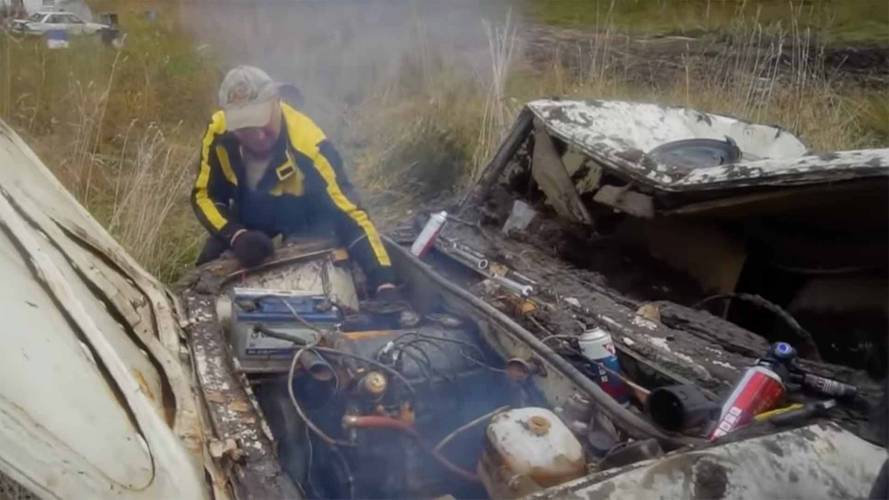 Watch Lada And Toyota Roar To Life After Year Buried In Mud