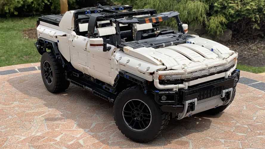 Lego GMC Hummer EV has powered functions including crab walk
