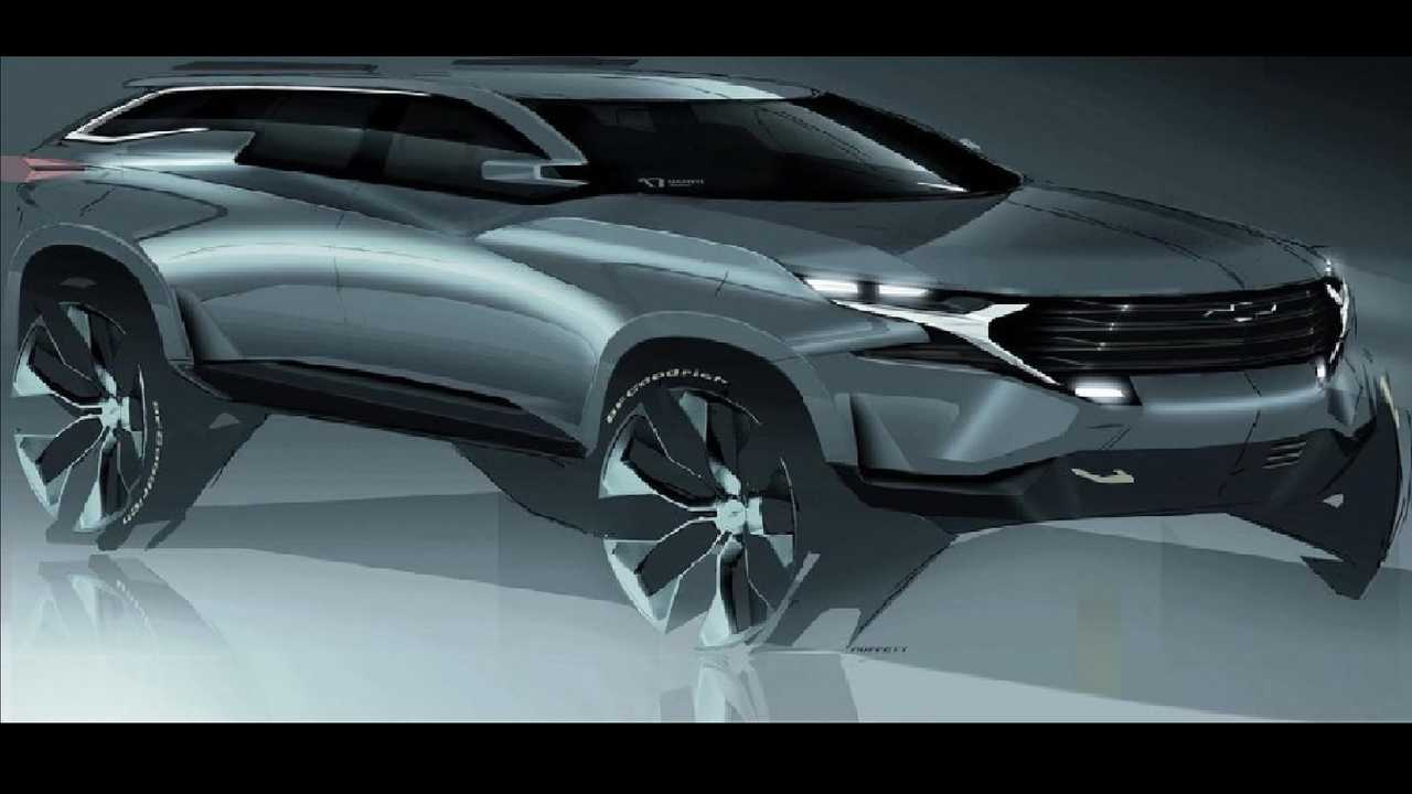 This rendering of a sleek SUV was posted to the official GM Design Instagram account.