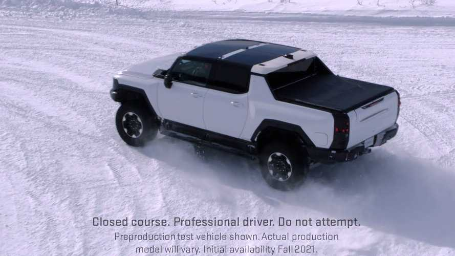 These Videos Show What The GMC Hummer EV Can Do In The Snow