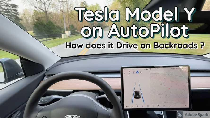Watch Tesla Model Y On Autopilot Tackle Country Backroads