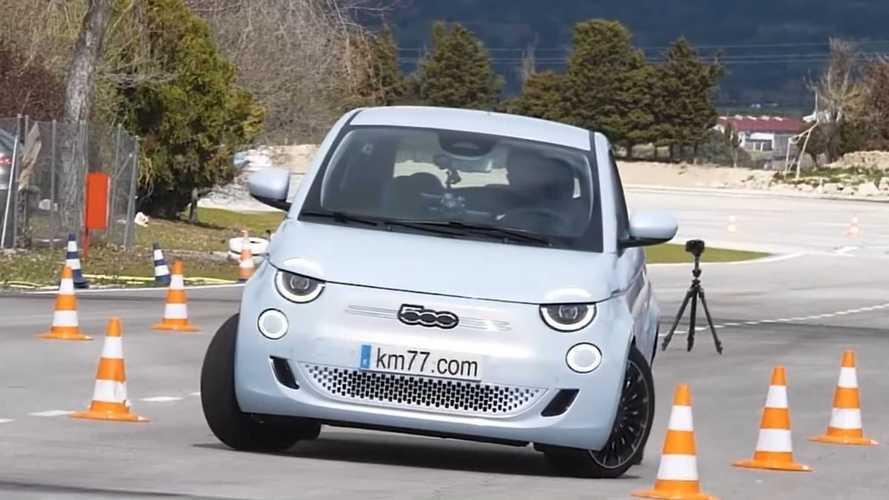 Fiat 500 elétrico vai bem no famoso teste do alce - vídeo