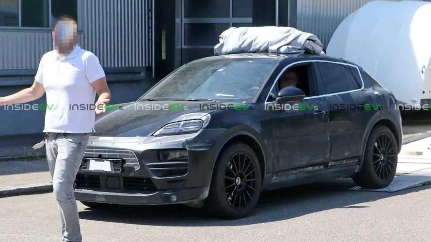 New Spy Photos Reveal Porsche Macan EV Interior
