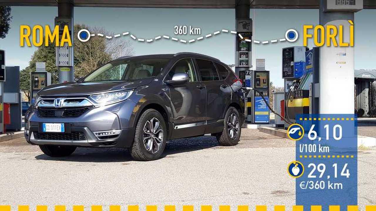Honda CR-V e:HEV 2021, prueba de consumo