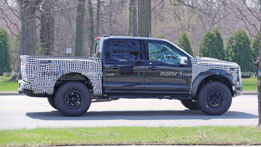 Ford F-150 Raptor R Spied Cruising Alongside Ram 1500 TRX