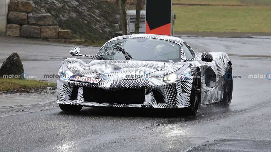 Ferrari hypercar test mule spy photos