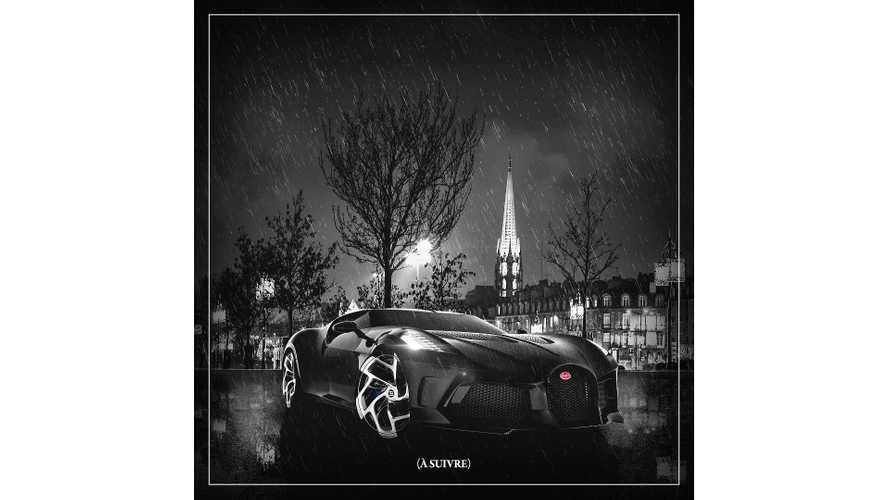 Bugatti La Voiture Noire teasers da versão final
