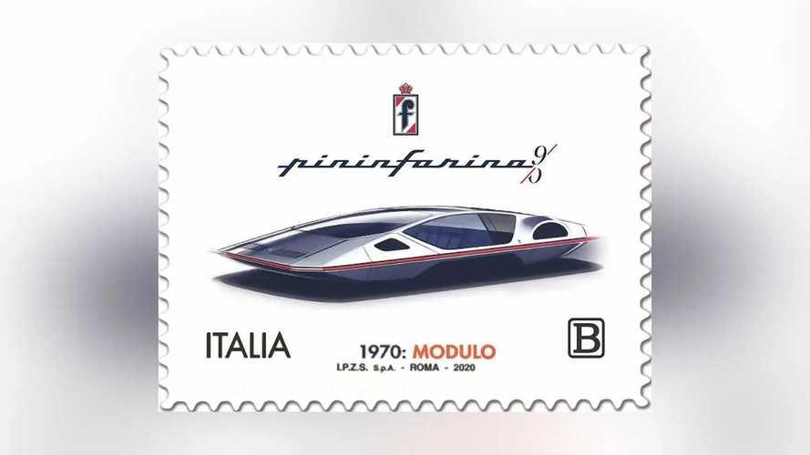 Pininfarina Modulo auf einer Briefmarke