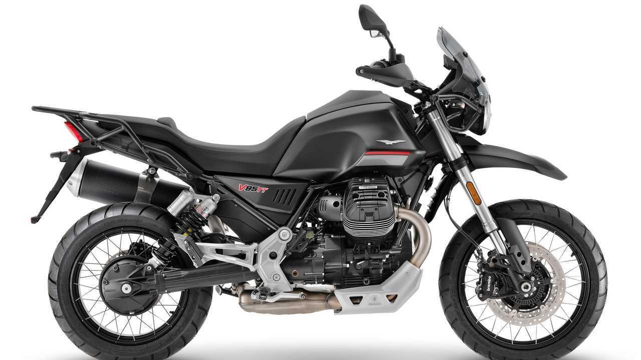 2021 Moto Guzzi V85 TT, Nero Etna