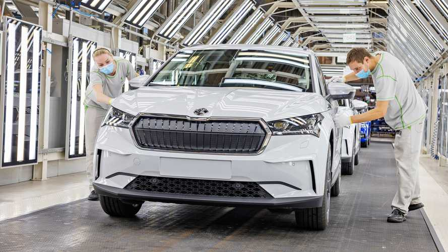 Skoda Enyaq iV production