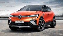 Renault Mégane (2021) als Rendering
