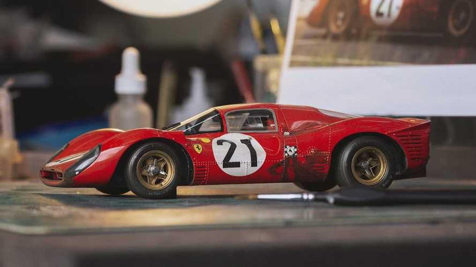 Amalgam Debuts Small Scale Weathered Ferrari 330 P4 Le Mans Model