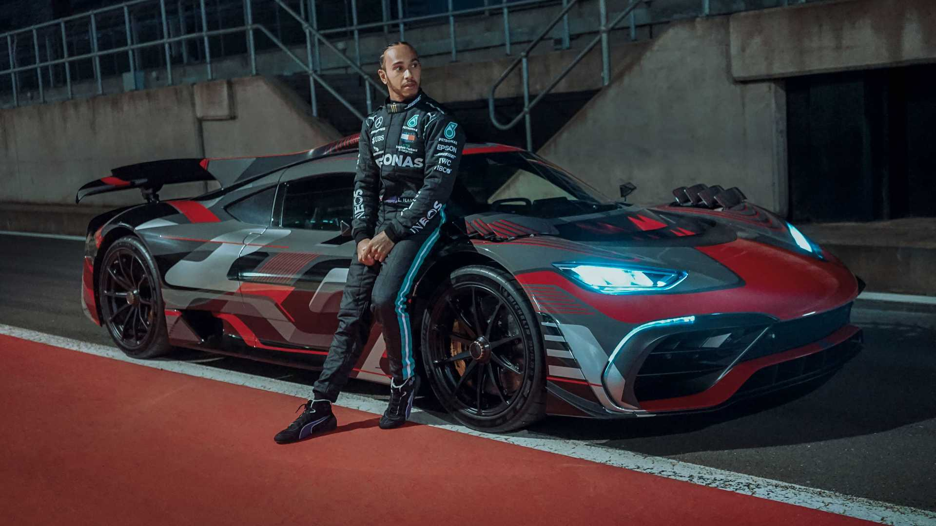 Lewis Hamilton Drives Mercedes-AMG One Hypercar After Work