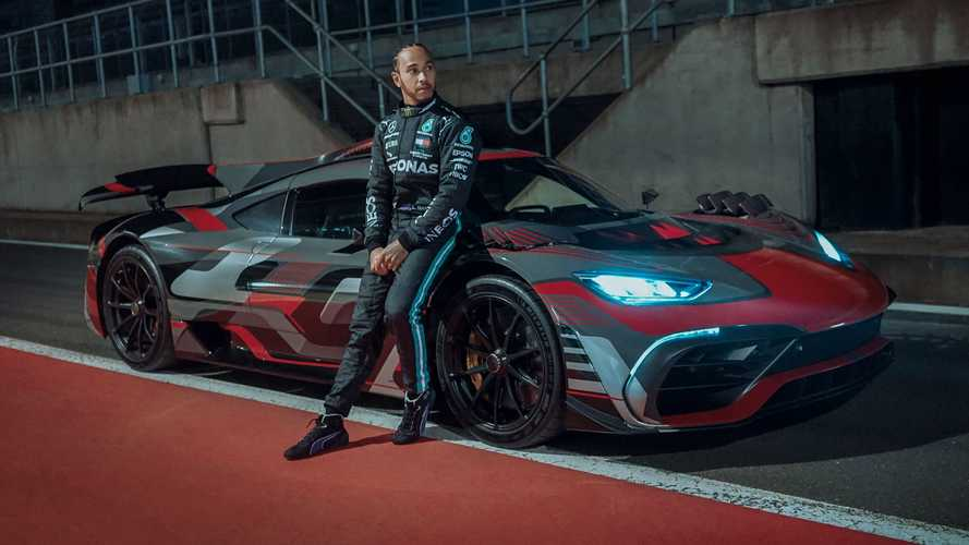 Lewis Hamilton shows off Mercedes-AMG One hypercar