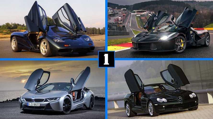 10 coches con puertas de tipo ala de mariposa
