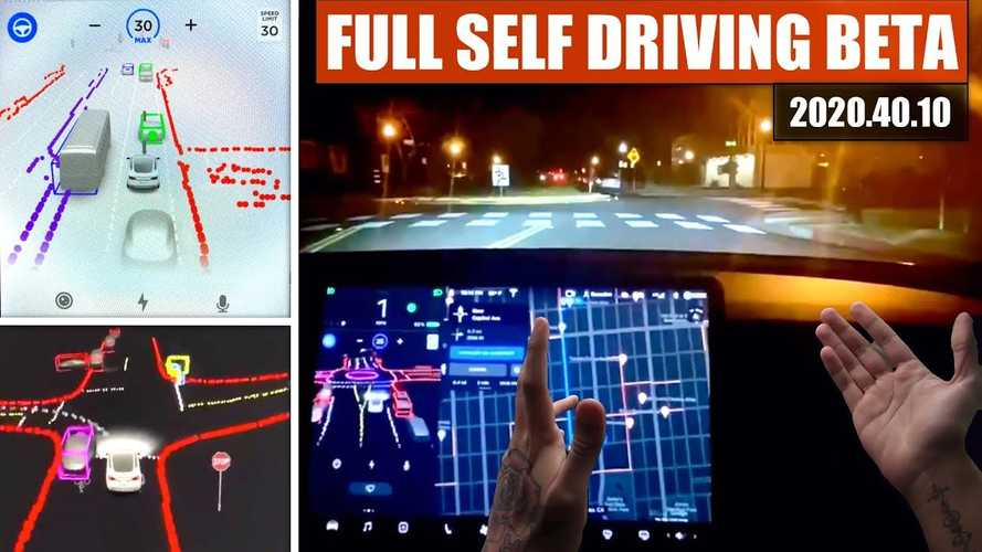 UPDATE: Tesla Full-Self Driving Beta Has Arrived: See It In Action