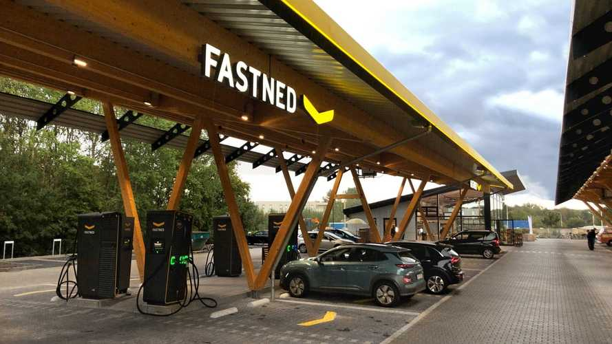 Fastned charging station in Germany