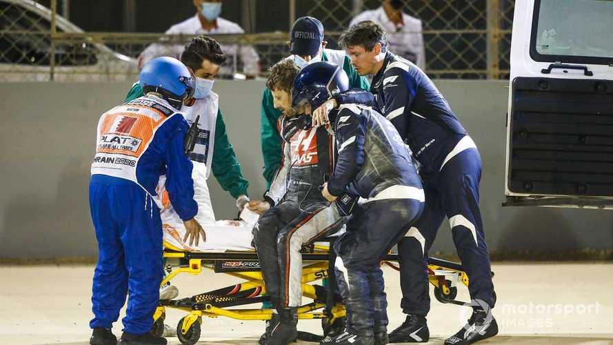 Grosjean 'lucky by being unlucky' in horror Bahrain GP crash