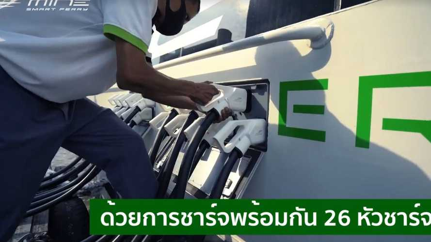 Incredible Electric Ferry Fast Charges Using 26 Plugs Simultaneously, But Why?