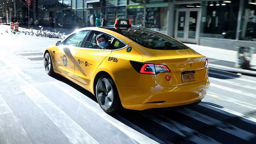 Go For A Ride In NY's First Tesla Model 3 Yellow Taxi Cab