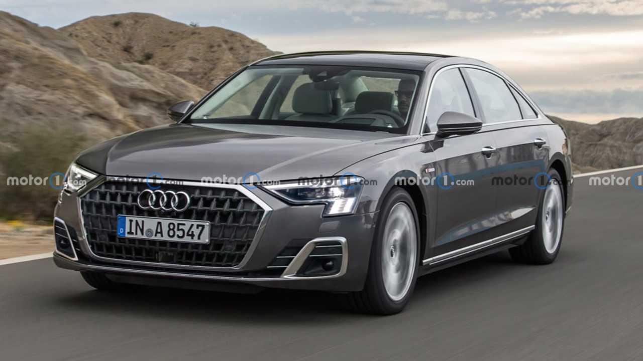 2022 Audi A8 Facelift Rendering