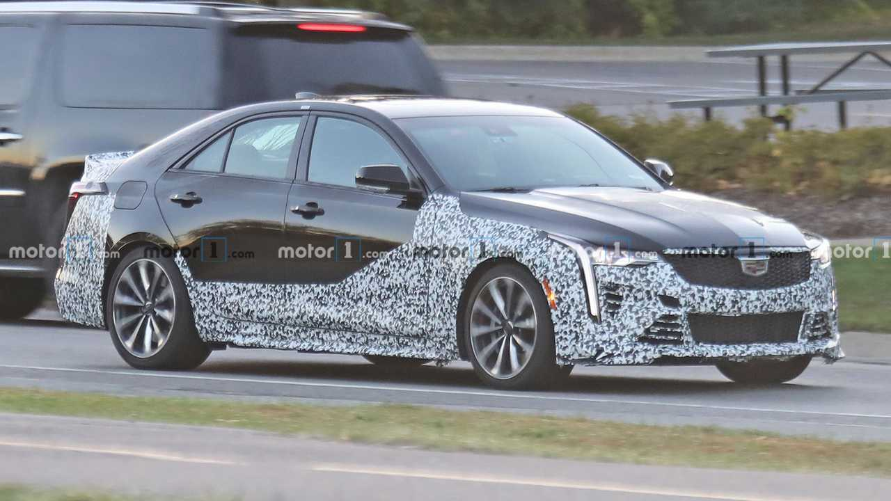 2021 Cadillac CT4-V Blackwing Spy Shots Front