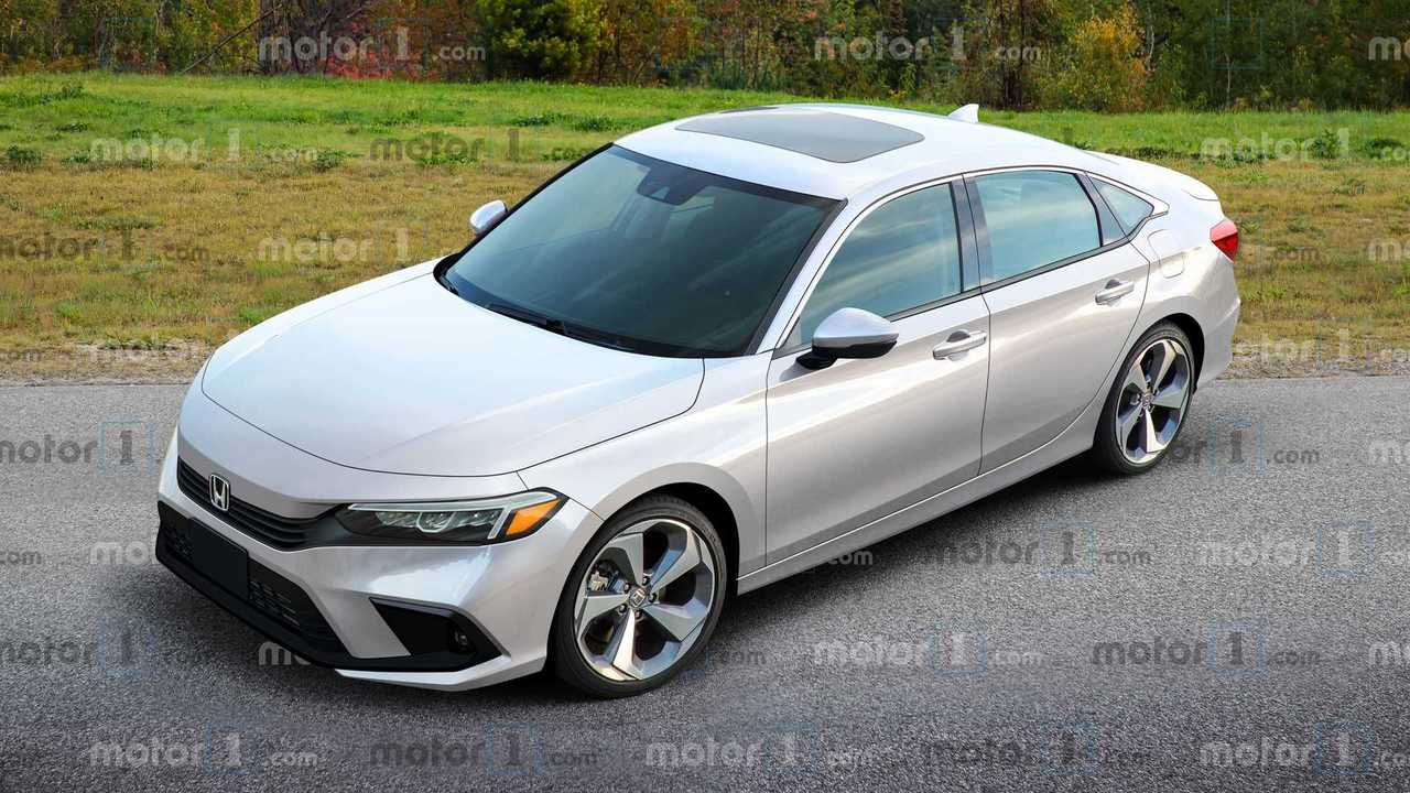 Honda Civic 2022, i nostri rendering