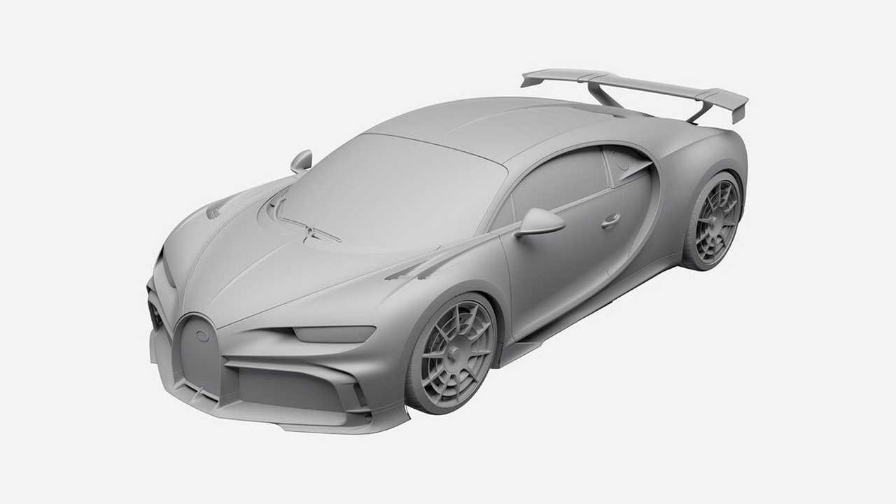 Bugatti Chiron Pur Sport запатентовали в России