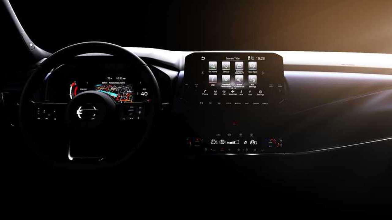 2021 Nissan Qashqai interior teaser
