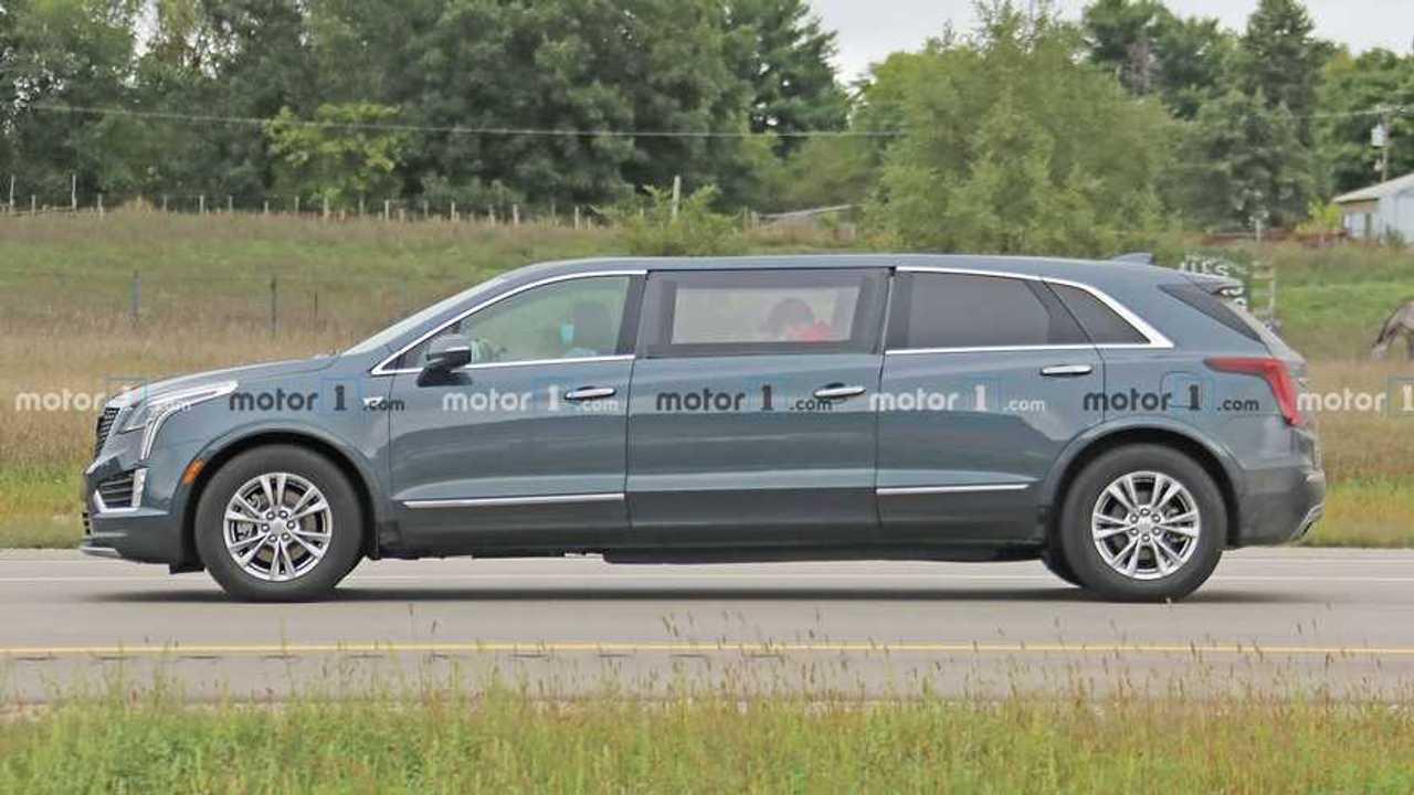 Cadillac XT5 Limousine Spy Photos
