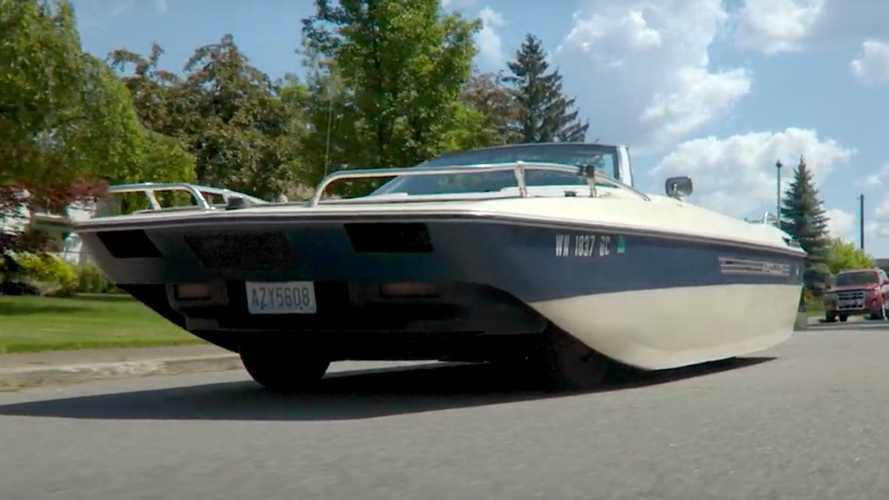 This Road-Going Boat Is Actually A Chrysler LeBaron Underneath