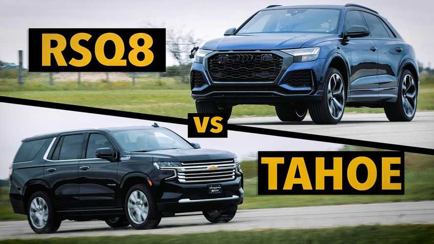 Audi RS Q8 Smokes Stock Chevy Tahoe In Strange Drag Race Matchup