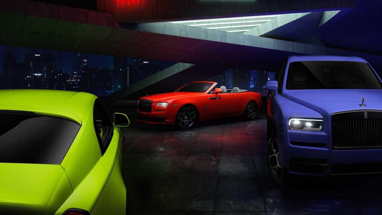 Rolls-Royce Black Badge «Неоновые ночи»