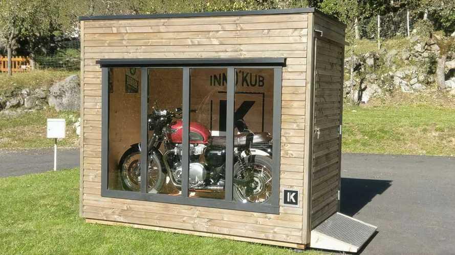 Cool Inno'Kub Portable Bike Garage Is Like A Tiny Showroom