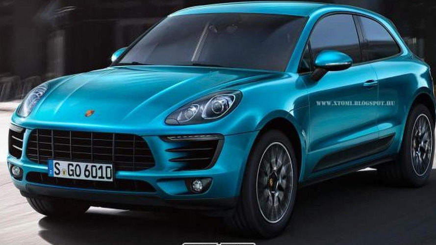 Porsche Macan rendered without rear doors by X-Tomi Design