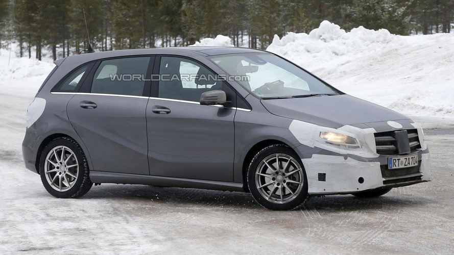 2015 Mercedes B-Class facelift spied with minor changes