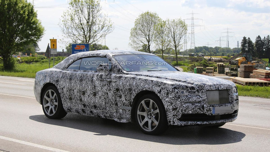 2015 Rolls-Royce Wraith Drophead Coupe spied for the first time