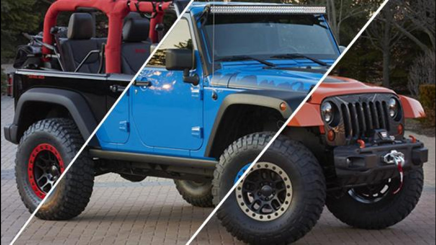 Tris di Jeep Wrangler all'Easter Jeep Safari