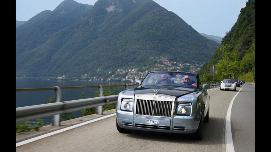 Su 'Quel ramo del Lago di Como' in Rolls Royce