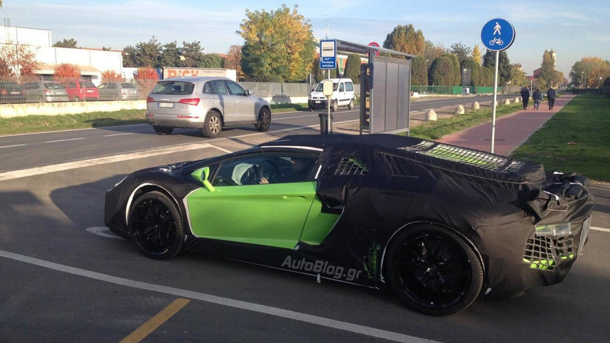 Lamborghini Aventador Roadster caught leaving the factory
