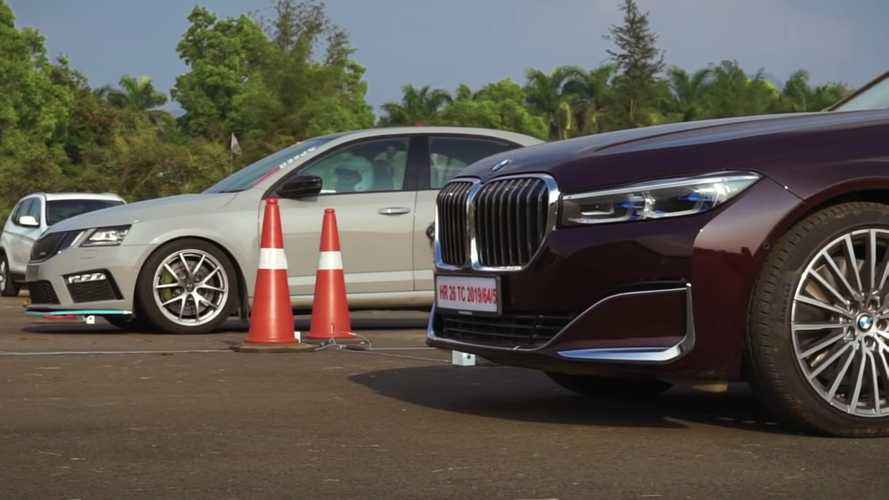 BMW 745Le Hybrid Vs Tuned Octavia RS Drag Race Ends In Photo Finish