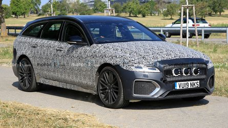 Jaguar XF Sportbrake refresh spied showing part of its updated face