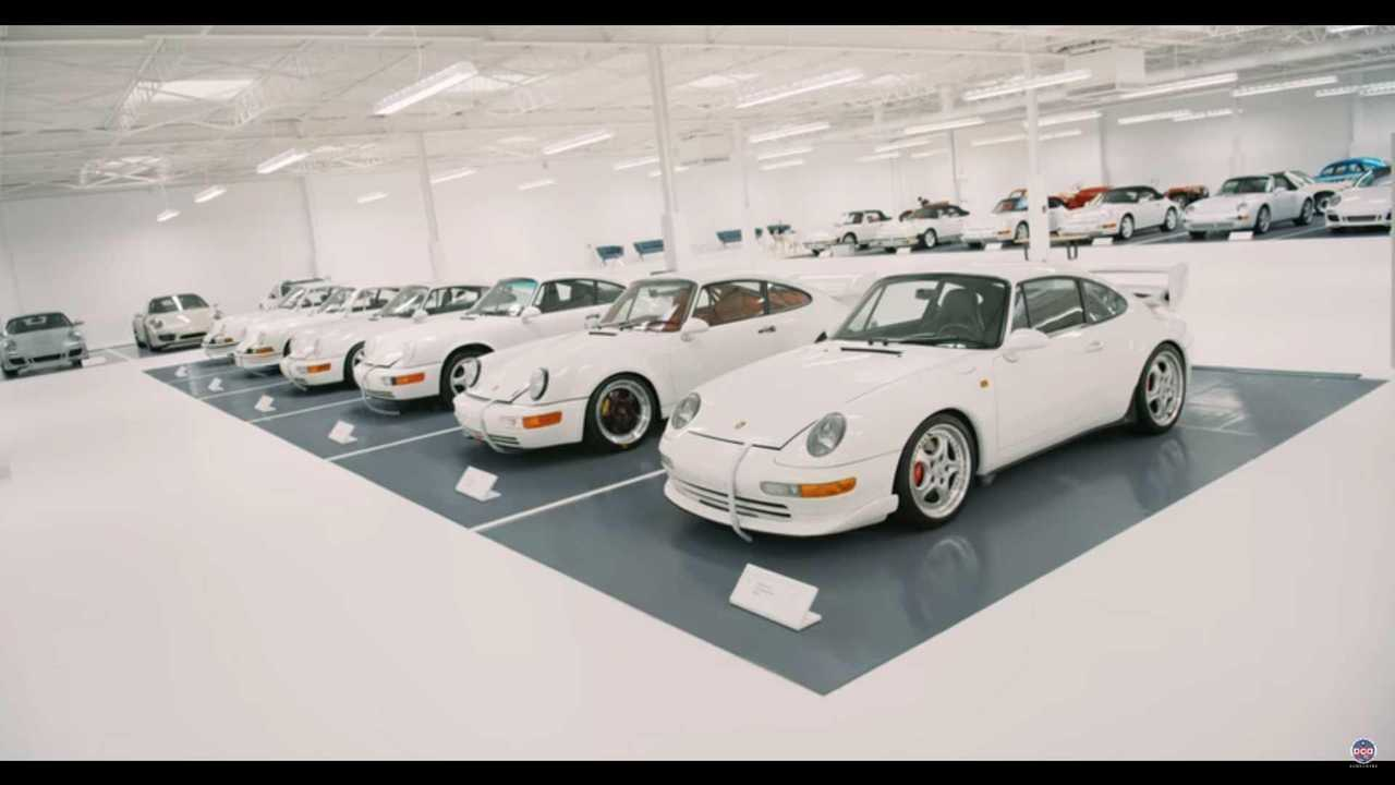 Pure white Porsche collection has us green with envy