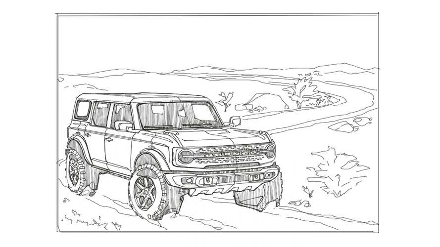 Blue Oval Releases 2021 Ford Bronco and F-150 Coloring Pages For Kids