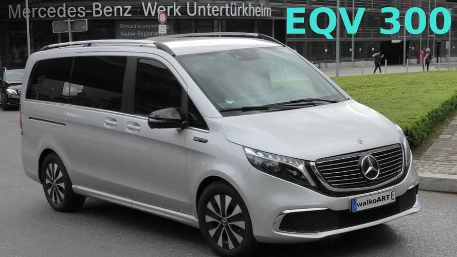 Mercedes-Benz EQV seen on the streets of Stuttgart
