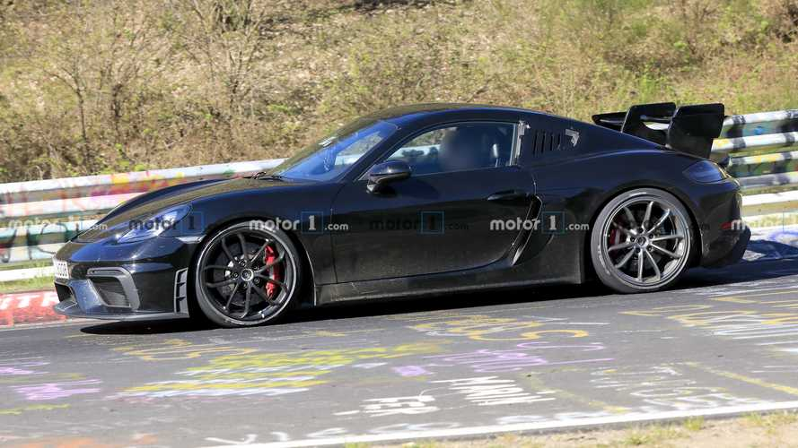 Porsche 718 Cayman GT4 RS Spied Testing Hard Among Other Hot Cars