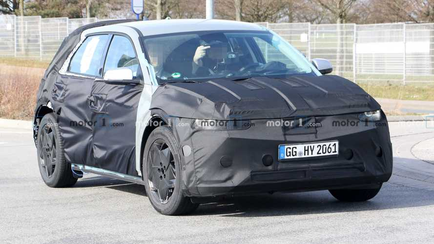 Hyundai 45 Spied With Test Driver Flipping Us The Bird