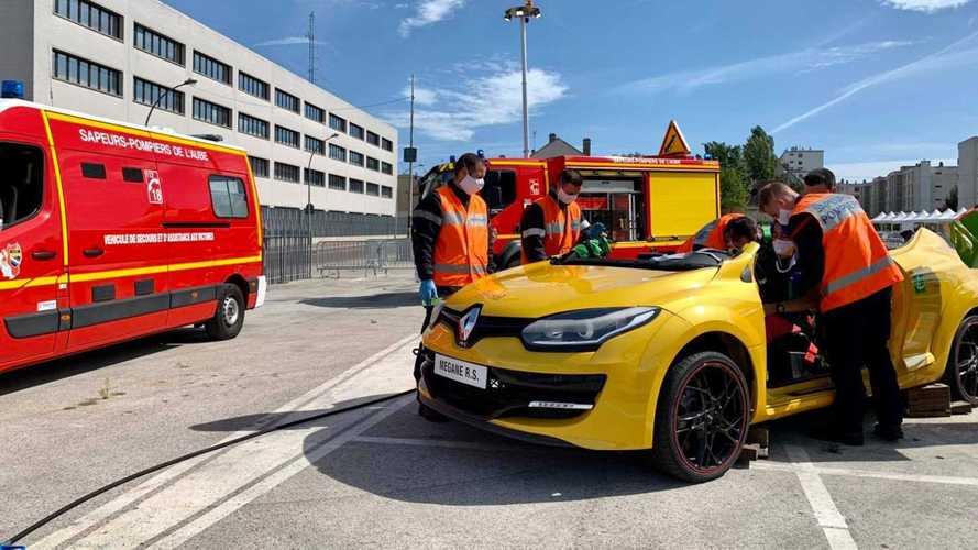 La Renault Mégane 3 R.S., voiture cobaye des sapeurs-pompiers