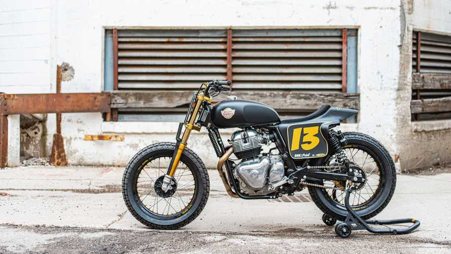Melissa Paris' Build Train Race Royal Enfield INT 650
