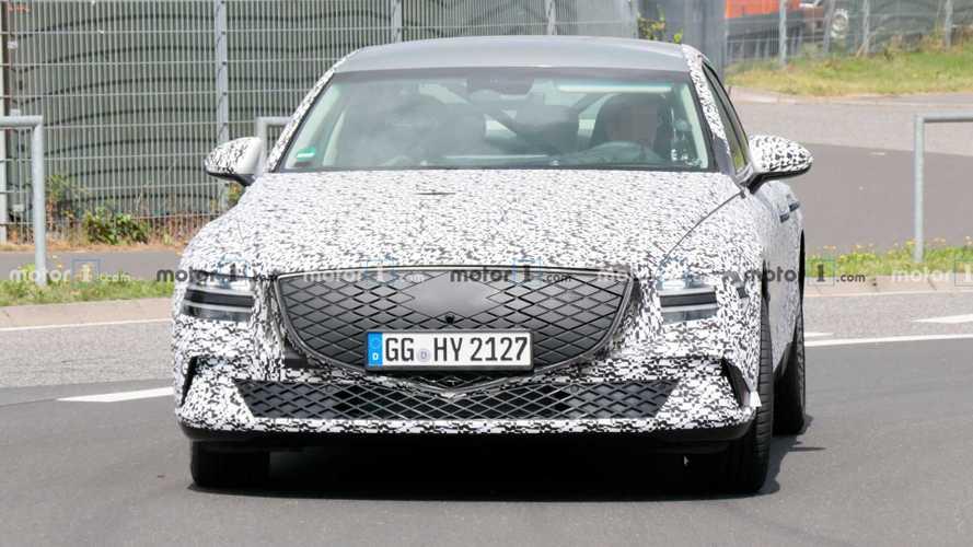 Genesis eG80 All-Electric Luxury Sedan Spied Near The Nurburgring